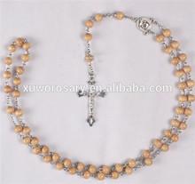 Religion Cross Bead Necklace XWX-1162