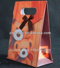 Lovely cardboard shopping craft paper bag adorable paper bag wholesale