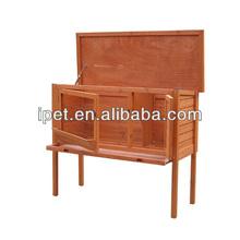 holz au erhalb kaninchen k fig mit tablett rh004. Black Bedroom Furniture Sets. Home Design Ideas