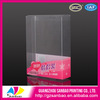 high grade stylish soft clear presentation box,clear plastic display container