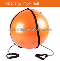 Manufacturer Anti-burst Yoga gym ball/Fitness pilates ball (6P free) with strap