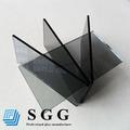 Negro de alta calidad hoja de vidrio flotado, espesor 4-12mm