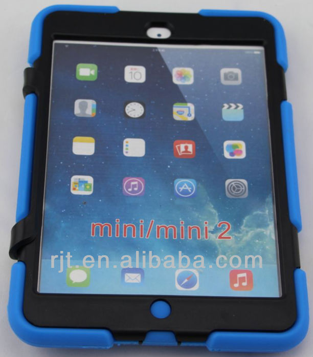 Venta al por mayor a prueba de golpes para el ipad mini caso, híbrido case ipad mini