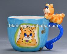 dog animal printed ceramic coffee cups