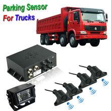 Long Range Buzzer Alarm 7 inch led parking sensor system car reverse backup radar