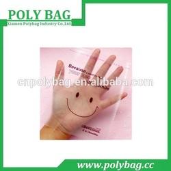 clear smiling face self-adhensive plastic bags