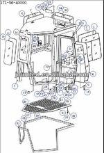 SD32 for cab,171-56-A0000, Cab. SHANTUI spare parts for the bulldozer
