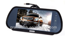 7 inch touch screen color rearview mirror car monitor with tft lcd
