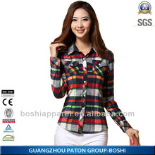 High quality 2014 blouse women shirt model with good price