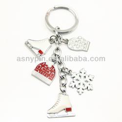 The Xmas Christmas snowflake skates hat glove keychain key ring chain key fob