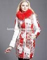 2014 mais recente pele Real de alta qualidade inverno brilhante forma barato por atacado roupa da menina