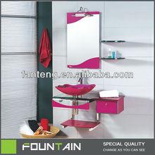 China Supplier Glass Shelves Corner Wash Basin Bathroom Vanity Living Room Furniture Bathroom Cabinet