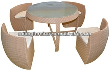 F038 Combination 5 PSC glass dining set
