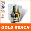 4 Bottles Clear PVC Wine Bag, Cool chiller freezer ice bag