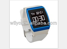 WQ09 Quad Band Cell Phone Anti Lost Alarm Pedormeter Wecha Whatsapp Skype Smart Watch Bluetooth