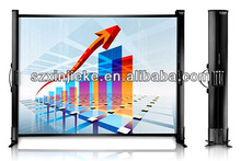Tabletop micro portable projector screen for indoor or outdoor