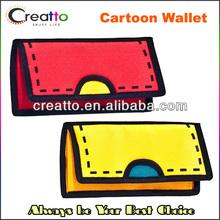 Creative 2D wallet Bag Drawing From Cartoon Paper Comics Nylon Wallet