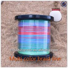 BRLN004 1200 spool muti color braid fishing line
