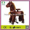 2015 HI EN71 hot sale funny kid plush toy horse rides, rocking horse toy,toy horse on wheels