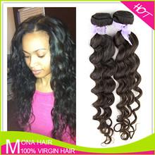 100% virgin brazilian loose deep wave hair weave
