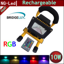 battery charge led light 5w 10w 20w 30w 50w rgb dimmable flash