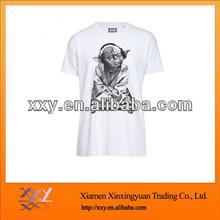 100% Cotton Custom Printing Tshirt Sexy White Pinted Image Customized