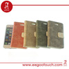 Hot!! High quality ramie flax fabric stand case for iphone 5s
