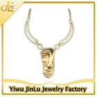 Fashion mask necklace 18k italian gold jewelry