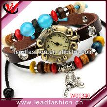 Vintage Watch Bracelet Beaded Bracelet in Wristwatches