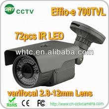 Outdoor varifocal 2.8-12mm 60M IR waterproof 960H CCD 700TVL cctv xuxx video camera metal cases