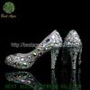 2014 Women Dress Shoes Wholesale Genuine Leather Multi-color Rhinestone Ladies Fancy Footwear