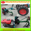 High Quality Multi-function 12HP Farm Diesel Walking Tractor with the plough,rotary tiller,harvester, trailer Chinese Supply
