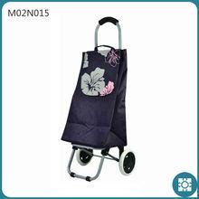 600D Purple Shopping Trolley Bag on Wheels Foldable Trolley