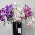 três cabeça de flor artificial de orquídea da china