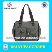 2014 hotsale retro gray canvas bags in export price