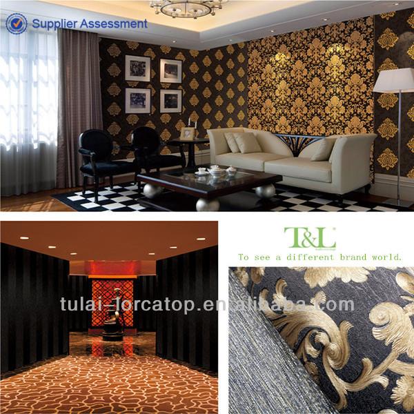 Hot sale home decoration european latest wallpaper designs for A t design decoration co ltd