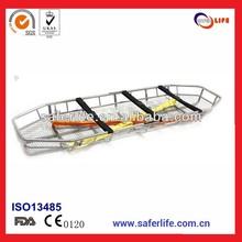 Emergency medical Stainless Steel Basket Stretcher