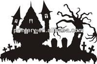 2014 Halloween car decoration sticker, removable window stickers,gel window sticker