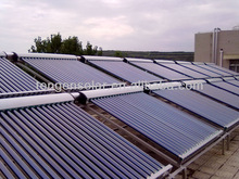 Integrated high pressured heat pipe solar water collector for frzee cold winter use