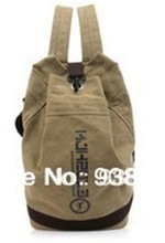 Men's Canvas Bucket Bag Casual Shoulder Bags Basketball Backpack