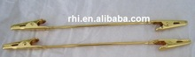 Gold plated steel alligator clips