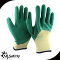 10g forro polycotton amarelo 3/4 verde revestido de látex luvas térmicas