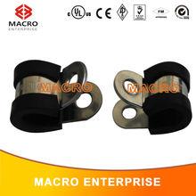 De aço inoxidável de borracha EPDM forrado tubo de combustível mangueira P clipe