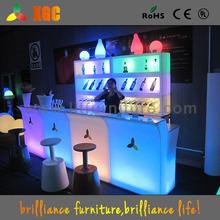 LED high top bar counter/glowing bar desk/lighting bar furniture