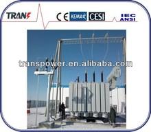 121KV oil type 3 phase mva power transformer