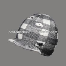 CUSTOM 3D PRINTING FLAT BRIM KNITTED WINTER HAT WHOLESALE LOGO