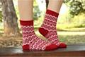 de espesor de invierno de lana de punto jacquard calcetines para las niñas