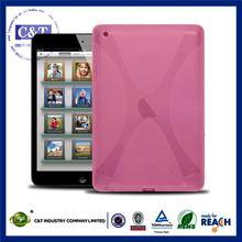 C&T Pink tpu flexible product defender case for new ipad mini 2