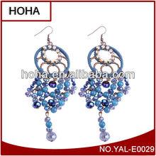 2014 stylish earrings young leafs girls,latest model fashion long earrings