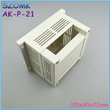 115x90x72mm abs industrial plastic box din rail